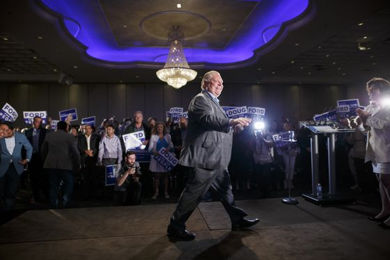 Ford's Conservatives Win Ontario Vote on Populist Message