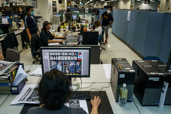 Hong Kong Charges Apple Daily's Top Editor Under Security Law