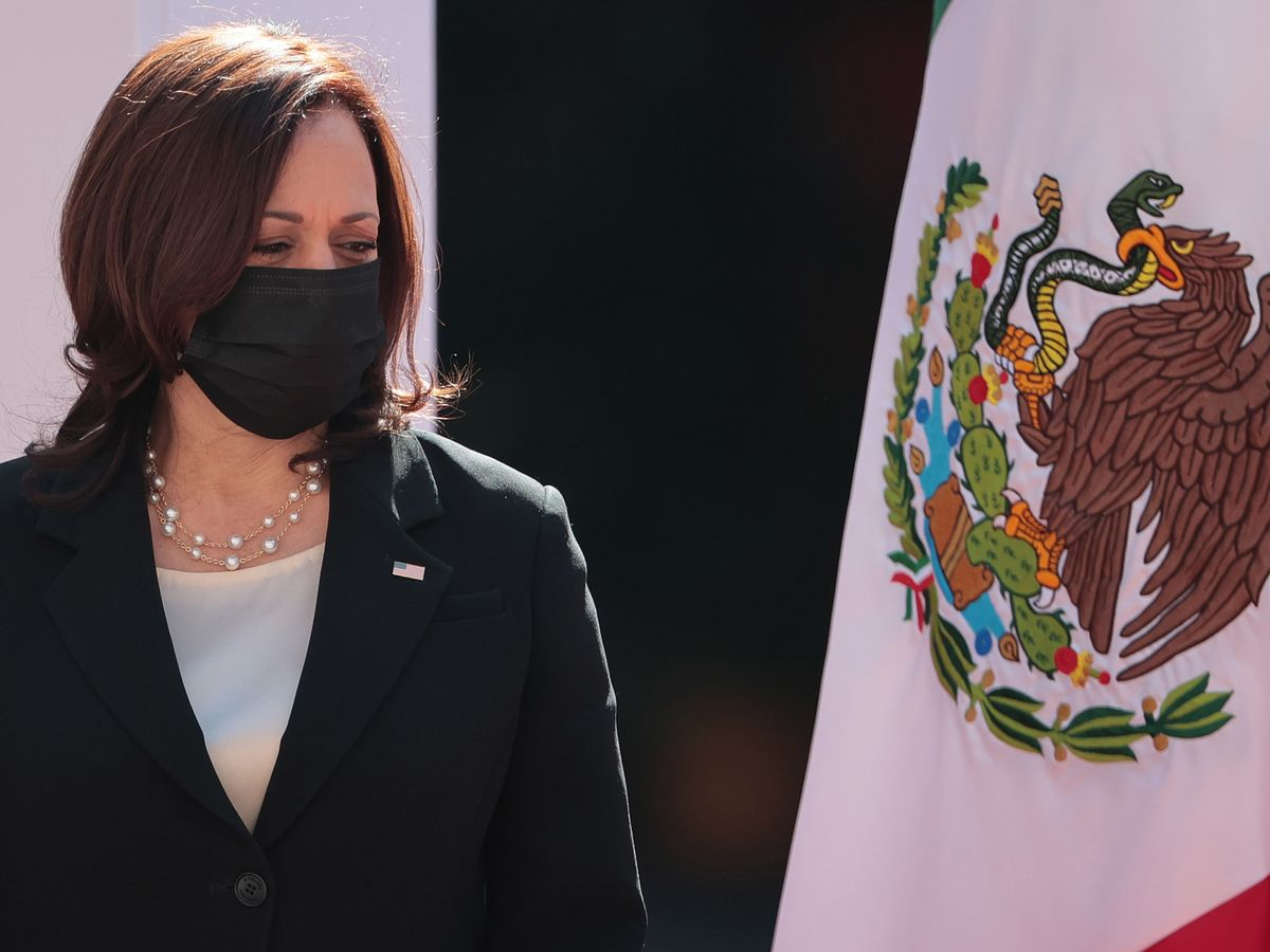 Kamala Harris Deflects Barbs From AOC, Republicans Over Border Effort