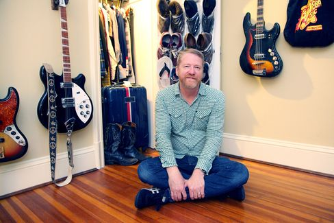 David Lowery, best known for his band Cracker and Camper Van Beethoven,at home in Richmond Va.