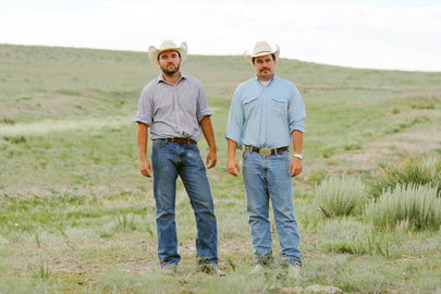 Wil and Jim Bledsoe on their ranch in Colorado