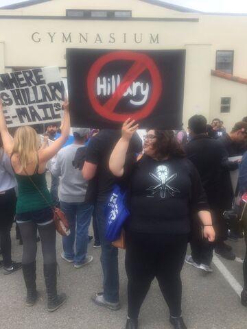 Bernie Sanders supporters in Salinas, California.