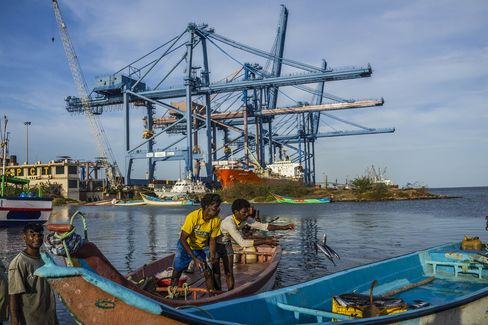 Operations At The Krishnapatnam Co. Port As Ambitious India Port Bets on Policy Shift to Steal Colombo Trade