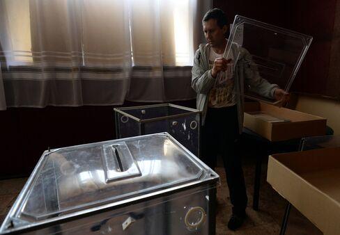 Polling Station in Ukraine