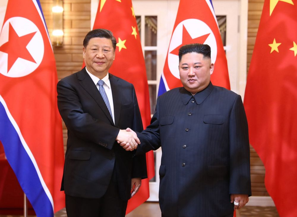 Xi Jinping and Kim Jong Un in Pyongyang in 2019.