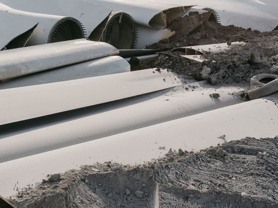 Wind Turbine Blades Can't Be Recycled, So They're Piling Up in Landfills