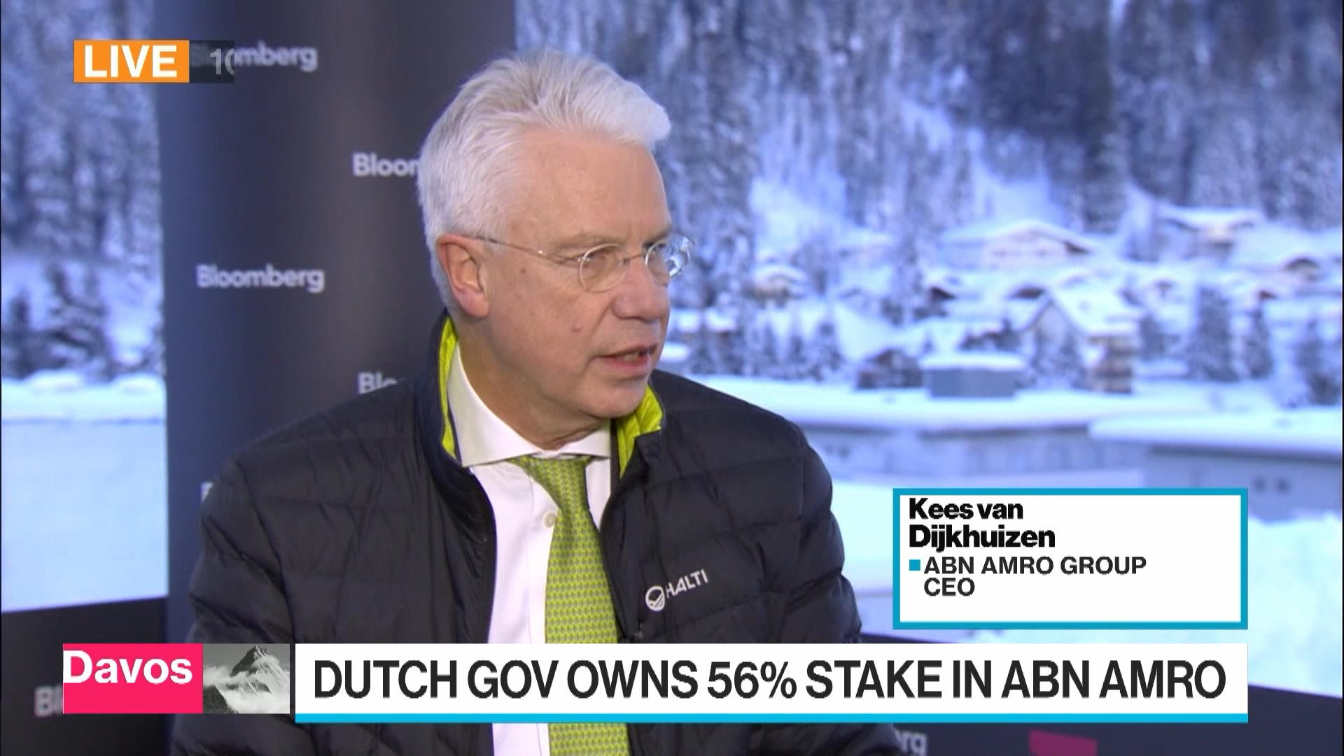 ABN Amro CEO Expects Further Sell Down of Government Stake