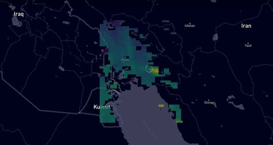 Large Methane Clouds Spotted Near Gas Pipelines in Iran
