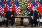 金委員長とトランプ大統領(28日、ハノイ)