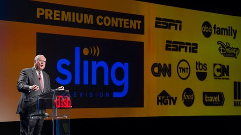Joseph Clayton, Dish Network'sCEO, speaks during the 2015 Consumer Electronics Show in Las Vegas on Jan. 5.