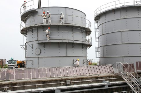 Storage Tanks at Fukushima Dai-Ichi Plant