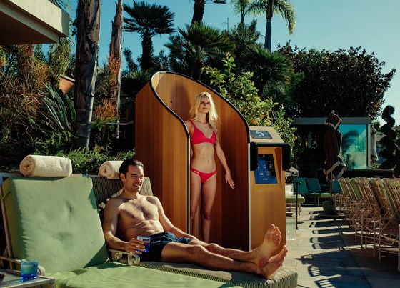 This Bizarre Sunscreen Booth Is Driving Cocktail Sales at Hotel Pools