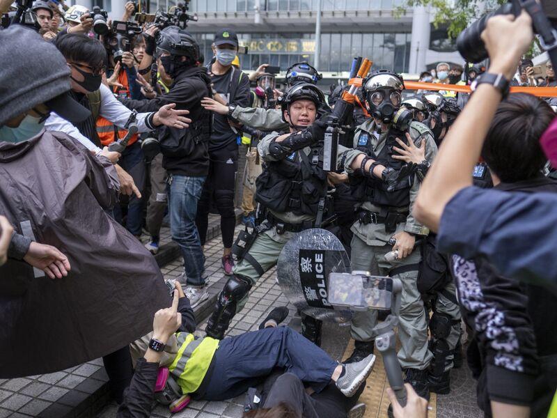 Demonstrators Attend Mass Rally In Hong Kong's City Center