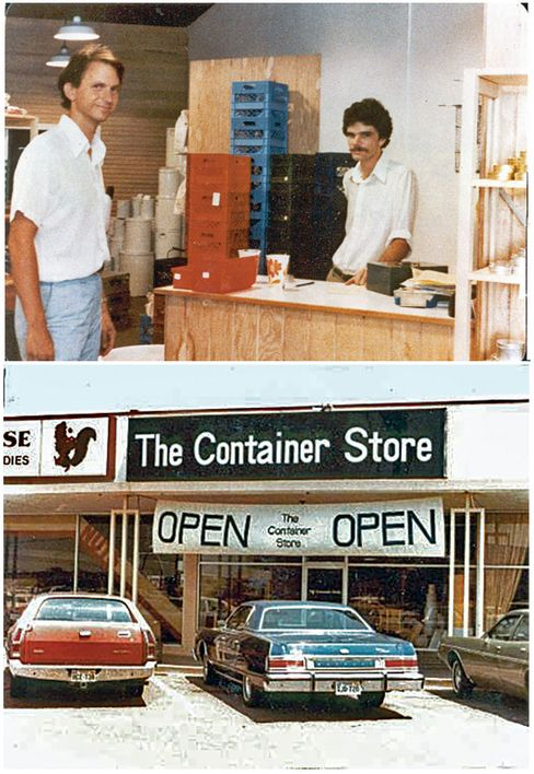 Tindell and Boone at the original store in 1978.