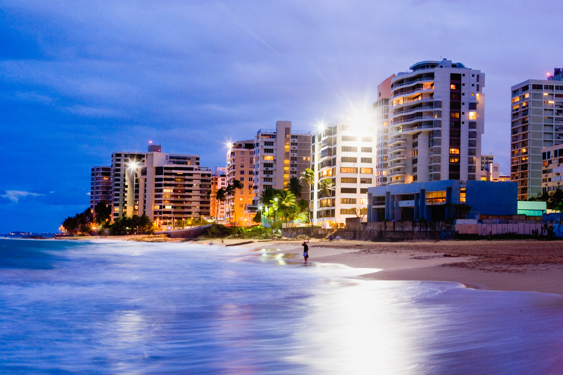 Resort Hotels Along Condado Beach in San Juan