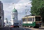 A tram in Helsinki, where Mobility as a Service plans are administered through the app, Whim.