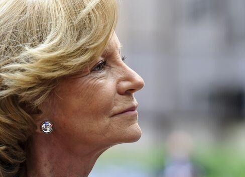 Spain's Finance Minister Elena Salgado
