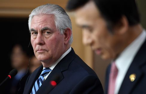 Rex Tillerson in Seoul on March 17