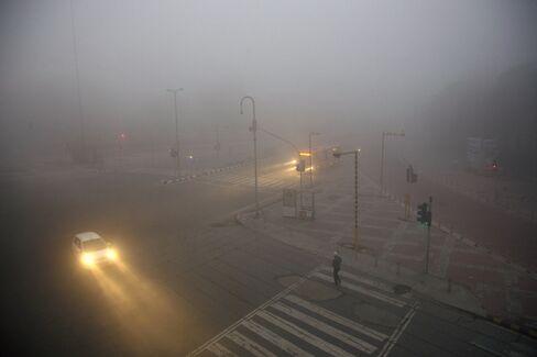 Haze in New Delhi