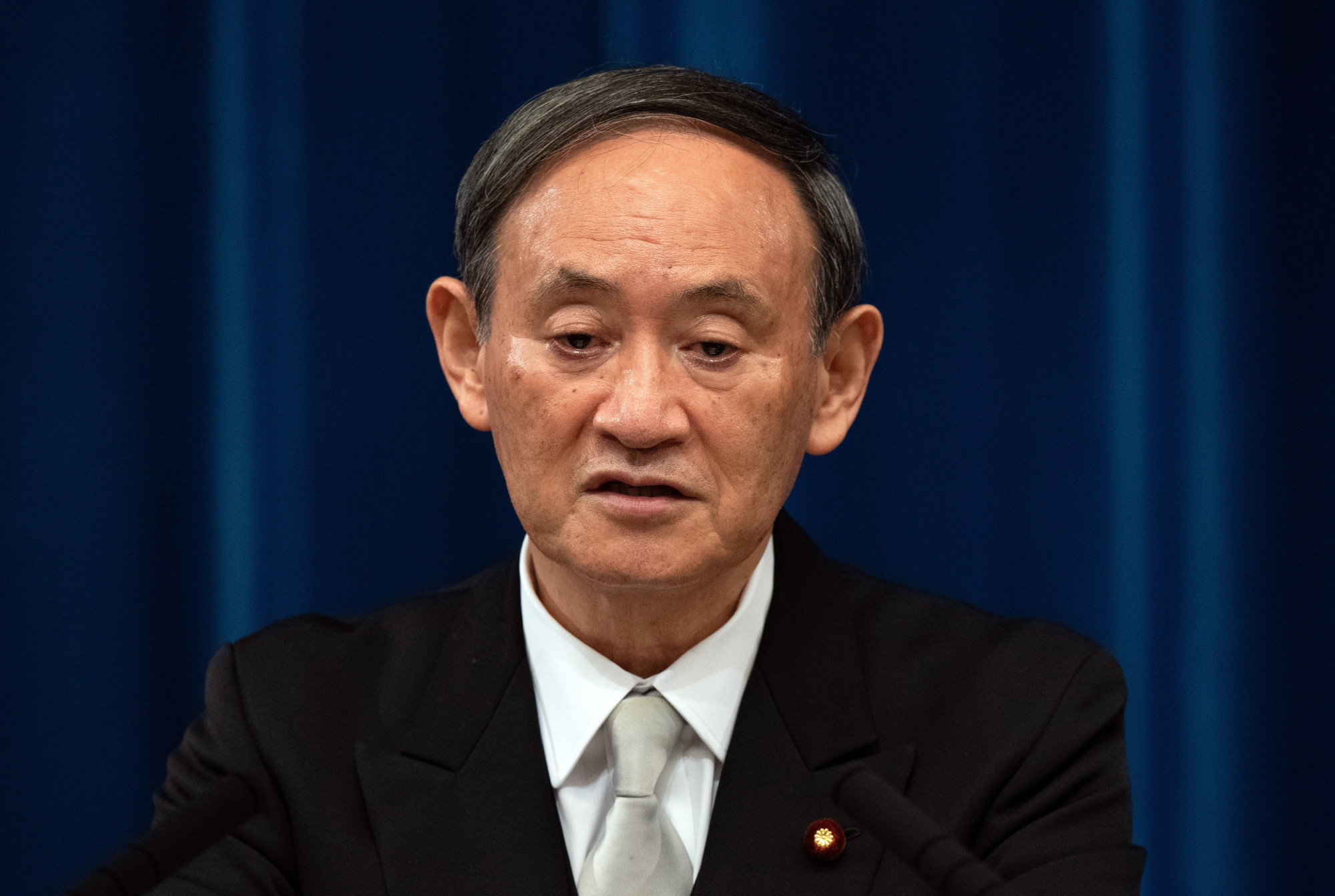 Japan's New Prime Minister Yoshihide Suga News Conference