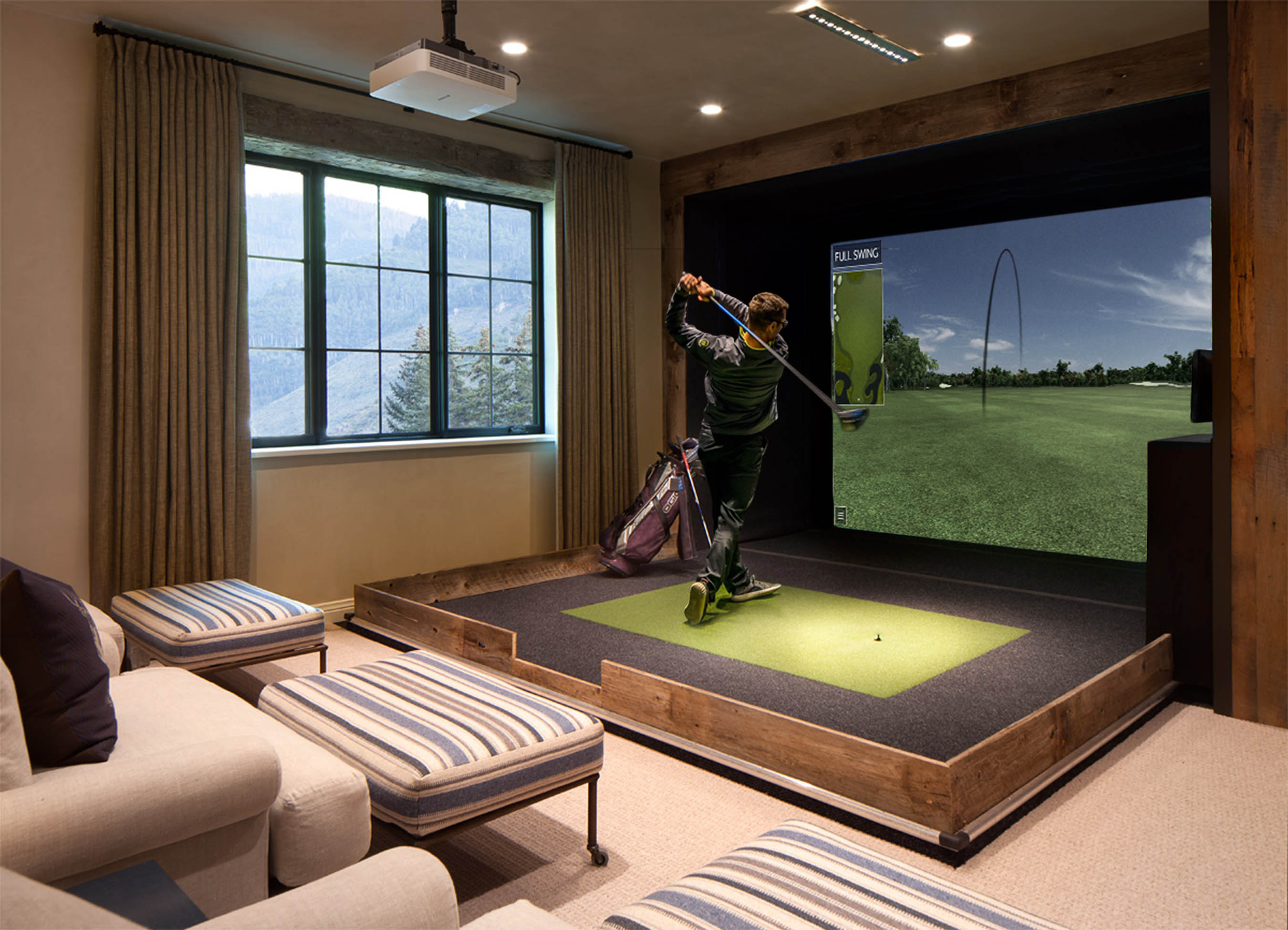 No Caddie Required Homeowners Drive Growth In Golf Simulators Bloomberg
