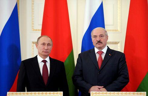 President Vladimir Putin and President Aleksandr Lukashenko