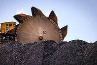 Coal Excavator At A Working Coal Mine