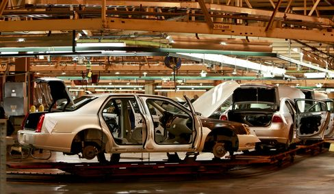 A General Motors Co. assembly line in Detroit