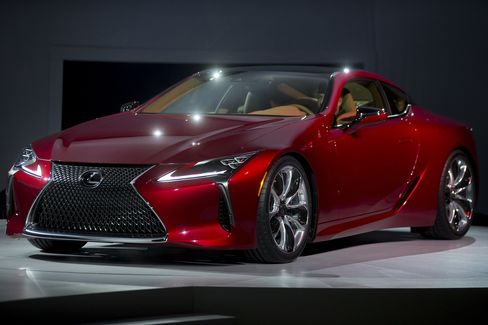 The Lexus LC 500, Toyota Motor Corp.'s much-anticipated 467-horsepower sports coupe.