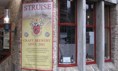 The De Struise Brouwers beer shop in Bruges, Belgium.