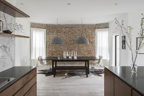 Pendant lights and exposed brick, two features that ranked high in Zillow Digs' study.
