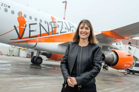 Carolyn McCall at Venice Marco Polo Airport