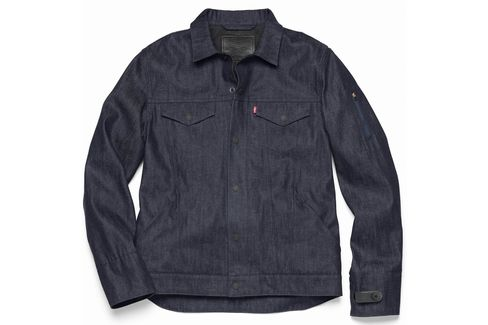 The Levi's Commuter Jacket x Jacquard by Google weaves interactive fiber into denim to create a functional, fashionable, and interactive jacket for the urban cyclist.
