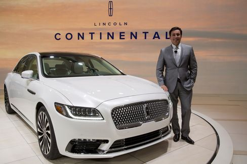 Ford CEO Mark Fields and the 2017 Lincoln Continental.