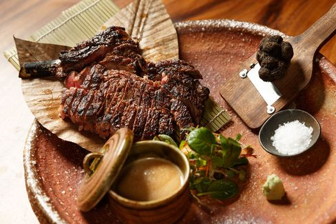 The rib-eye at Zuma is simply grilled—and delicious.