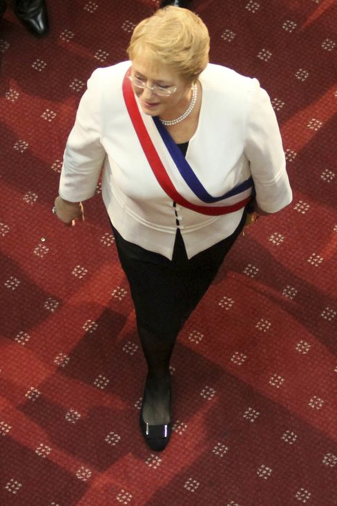President of Chile Michelle Bachelet.