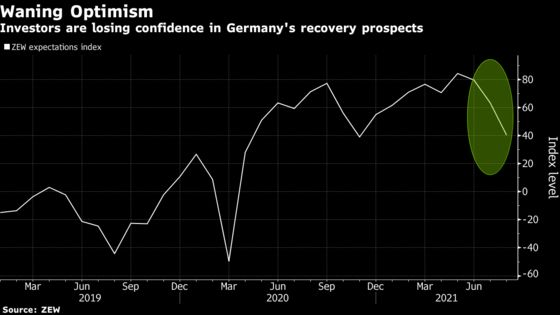 German Investor Confidence Plunges Amid Virus Variant Concerns