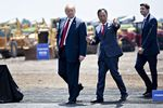President Trump Attends Groundbreaking For Facility Of Chinese Tech Giant Foxconn