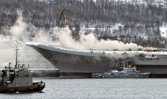 Russia's Only Aircraft Carrier Hit by Fire in Latest Mishap