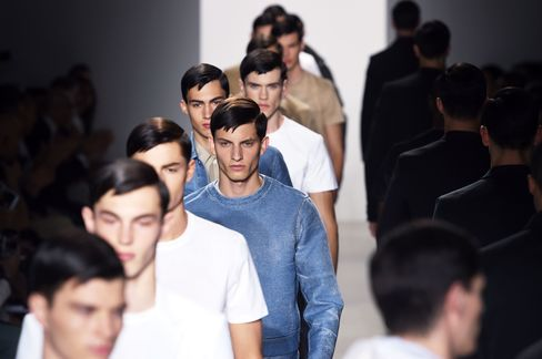 Models walk the runway during the Calvin Klein Collection show as part of Milan Men's Fashion Week Spring/Summer 2016 on June 21 in Milan.