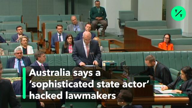 Australia Says a `Sophisticated State Actor' Hacked