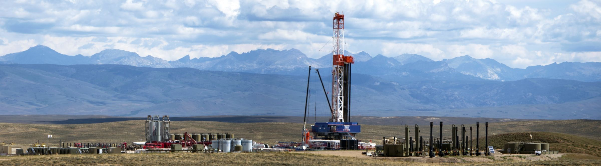 A natural gas field, near Pinedale, Wy.