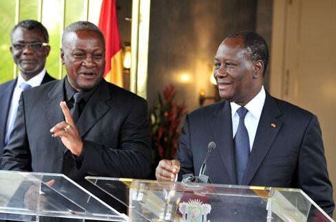 John Dramani Mahama And Alassane Ouattara