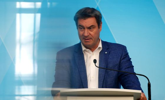 Soeder Says Up to Merkel's CDU to Decide Who Runs for Chancellor