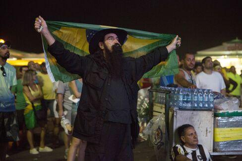 A protester in Rio on April 17.