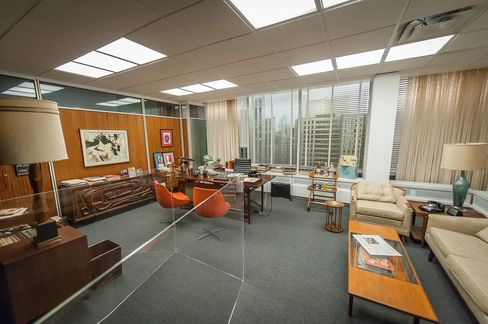 "Don Draper's swanky office (from seasons 4-6 of ""Mad Men"") recreated for"