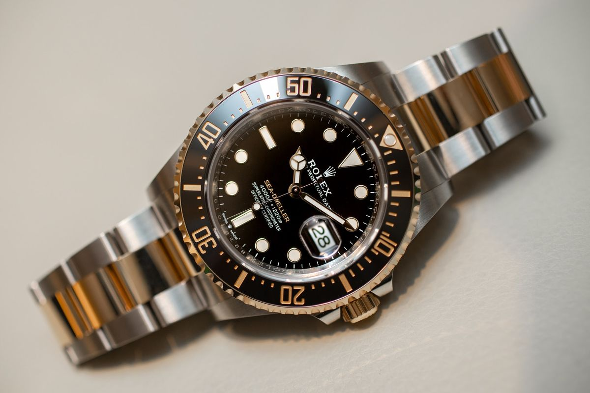 0d6d926fb8d Rolex Sea-Dweller in Two-Tone Steel and Yellow Gold: Hands On - Bloomberg