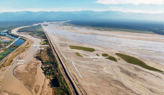 Giant Mine Spewing Waste Into River Becomes a Battleground