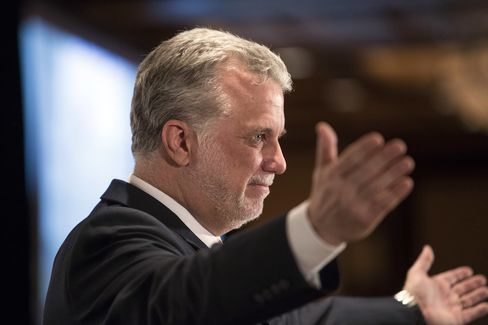 Quebec Liberal Party Leader Philippe Couillard