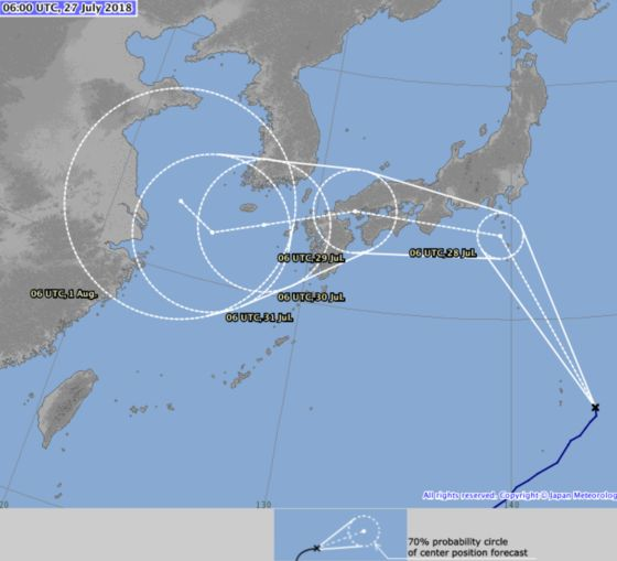 After Floods and Heatwave, Japan Braces for Typhoon Jongdari